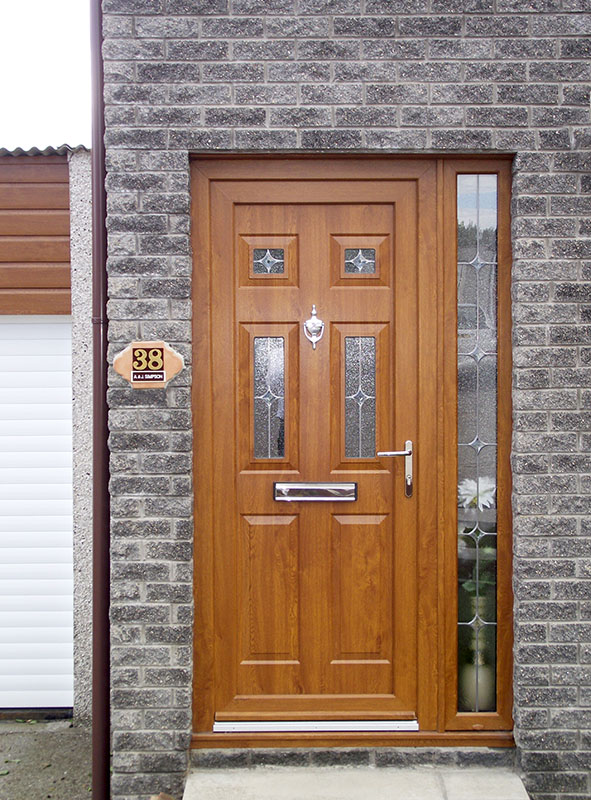 Brown upvc front door upvc doors rhino building for Brown upvc door