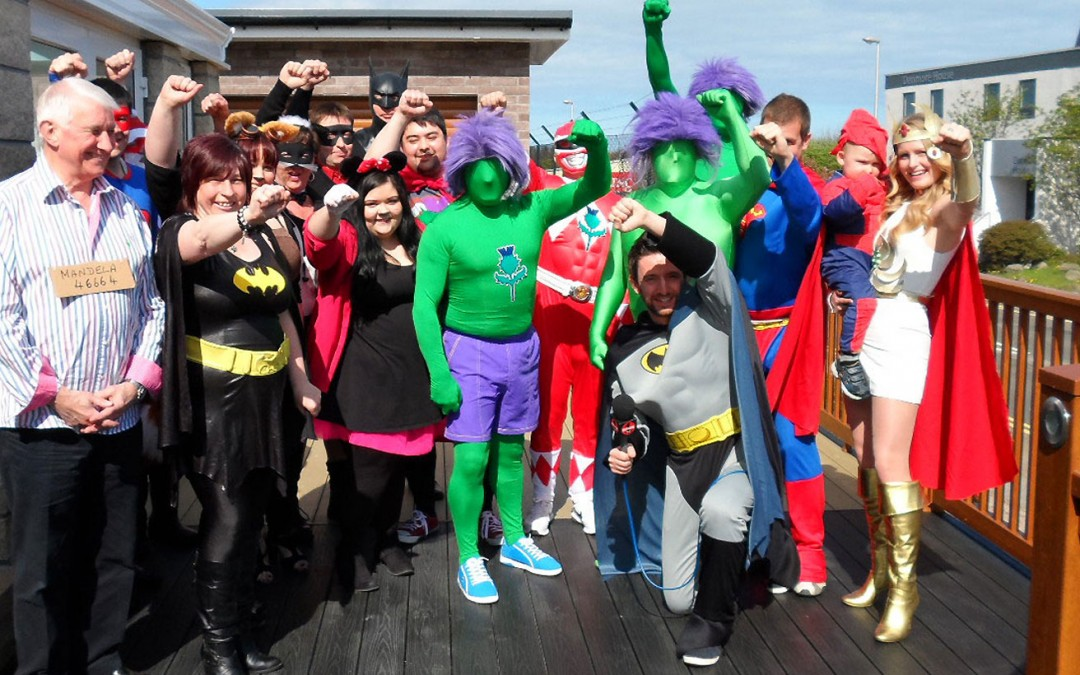 Thistle Windows Raises Over £400 on Cash For Kids Superhero Day