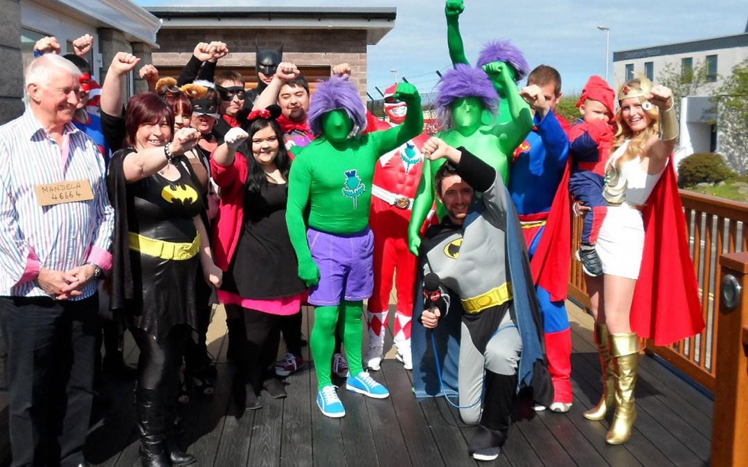 Thistle Windows Raises Over £400 on Cash For Kids Superhero Day