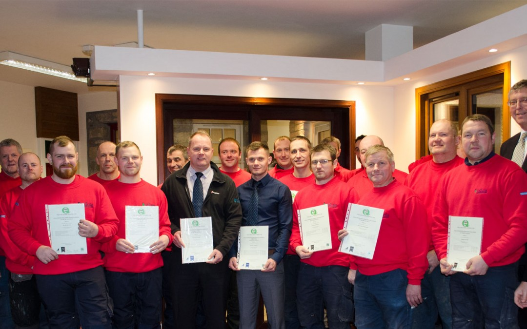 Thistle Windows Team Members Achieve SVQ/SCQF Qualifications