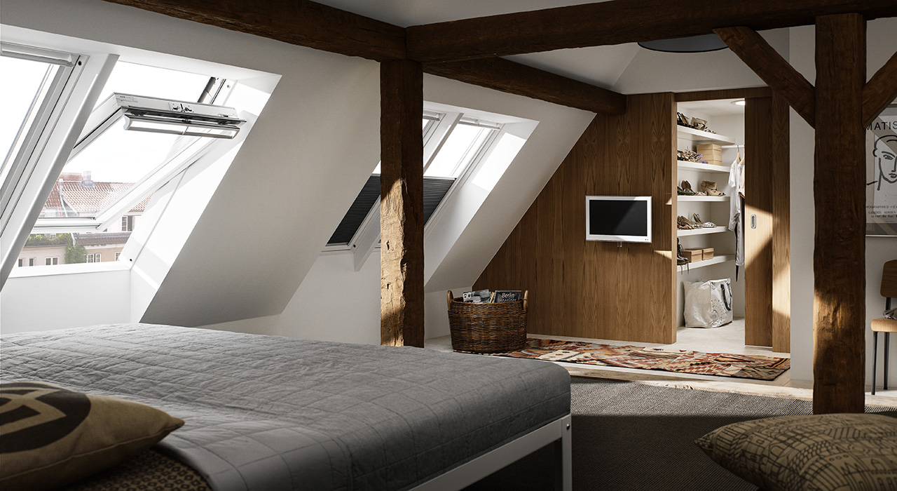 Bedroom VELUX Windows Aberdeen, Aberdeenshire & North East Scotland: Inspiration Example 2