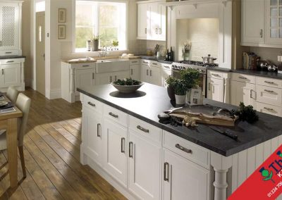 British Kitchens Aberdeen, Aberdeenshire: Sheraton Kitchens Edwardian Platinum White