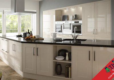 British Kitchens Aberdeen, Aberdeenshire: Sheraton Kitchens Gloss Stone Shaker