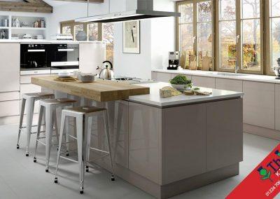 British Kitchens Aberdeen, Aberdeenshire: Sheraton Kitchens In-Line Gloss Cashmere
