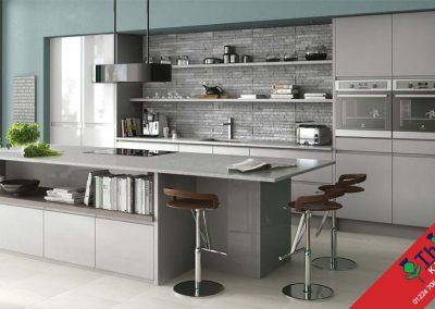 British Kitchens Aberdeen, Aberdeenshire: Sheraton Kitchens In-Line Gloss Grey