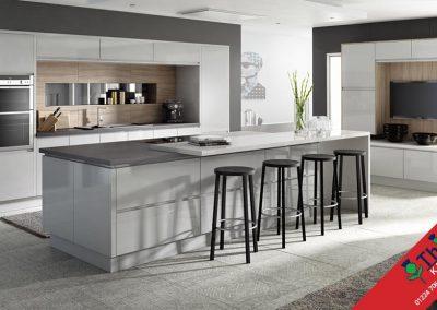 British Kitchens Aberdeen, Aberdeenshire: Sheraton Kitchens In-Line Gloss Dark Grey