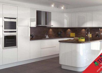 British Kitchens Aberdeen, Aberdeenshire: Sheraton Kitchens In-Line Gloss White