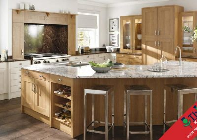 British Kitchens Aberdeen, Aberdeenshire: Sheraton Kitchens Lissa Oak Wood Shaker