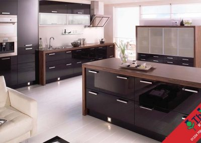 British Kitchens Aberdeen, Aberdeenshire: Sheraton Kitchens Mattonella Gloss Black