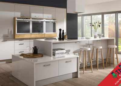 British Kitchens Aberdeen, Aberdeenshire: Sheraton Kitchens Mattonella Gloss Light Grey