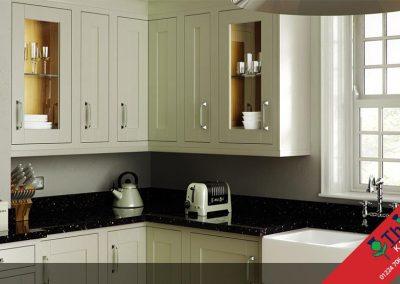 British Kitchens Aberdeen, Aberdeenshire: Sheraton Kitchens Painted In-Frame Green