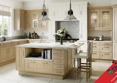 British Kitchens Aberdeen, Aberdeenshire: Sheraton Kitchens Sand Oak Wood Shaker
