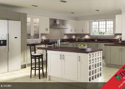British Kitchens Aberdeen, Aberdeenshire: Sheraton Kitchens Shaker Painted Sage Grey & Ivory
