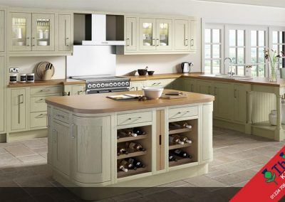 British Kitchens Aberdeen, Aberdeenshire: Sheraton Kitchens Wood Framed Painted Green