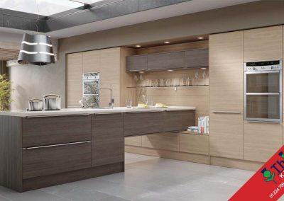 British Kitchens Aberdeen, Aberdeenshire: Sheraton Kitchens Woodgrain Brown Grey Avola