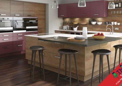 British Kitchens Aberdeen, Aberdeenshire: Sheraton Kitchens Woodgrain Grey Nebraska Oak