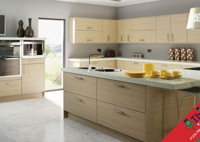 British Kitchens Aberdeen, Aberdeenshire: Sheraton Kitchens Woodgrain Natural Oak Slab