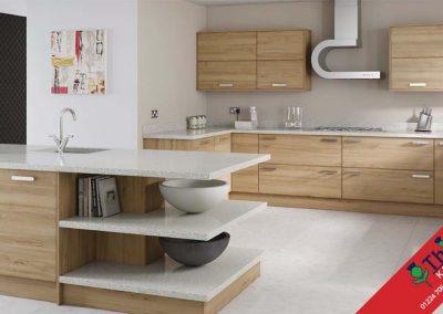British Kitchens Aberdeen, Aberdeenshire: Sheraton Kitchens Woodgrain Natural Pacific Walnut