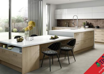 British Kitchens Aberdeen, Aberdeenshire: Sheraton Kitchens Woodgrain Sand Oak