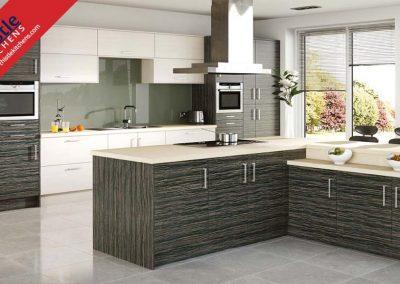 British Kitchens Aberdeen, Aberdeenshire: Sheraton Kitchens Woodgrain White Avola
