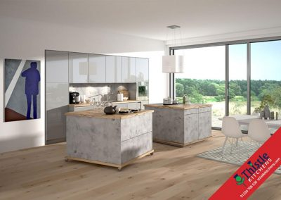 German Kitchens Aberdeen, Aberdeenshire: Kuhlmann Kitchens ETON Stone Grey & VIDA Magic Grey