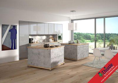 German Kitchens Aberdeen, Aberdeenshire: Kuhlmann Kitchens ETON Stone Grey & VIDA Magic Grey