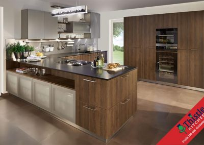 German Kitchens Aberdeen, Aberdeenshire: Kuhlmann Kitchens FINN Oak Havana & Prado Glass Doors