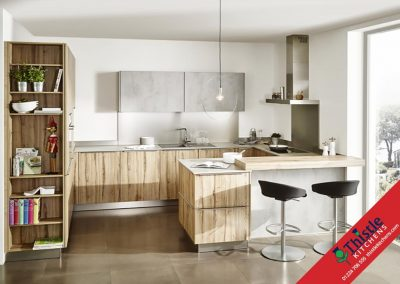 German Kitchens Aberdeen, Aberdeenshire: Kuhlmann Kitchens FINN Perolegno & TEMA Light Concrete