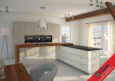 German Kitchens Aberdeen, Aberdeenshire: Kuhlmann Kitchens FINN Pine Silver Grey & ETON Silky White
