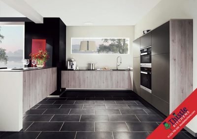 German Kitchens Aberdeen, Aberdeenshire: Kuhlmann Kitchens FINN Pine Silver Grey & VADA Anthracite