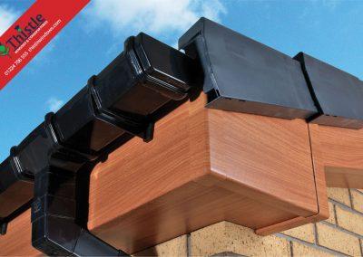 uPVC Roofline, Cladding, Soffits & Fascias Aberdeen & Aberdeenshire: Antique Pine Fascia