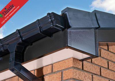 uPVC Roofline, Cladding, Soffits & Fascias Aberdeen & Aberdeenshire: Black Fascia