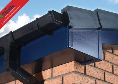 uPVC Roofline, Cladding, Soffits & Fascias Aberdeen & Aberdeenshire: Blue Fascia