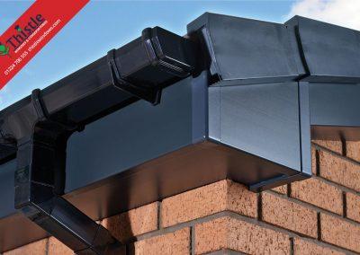 uPVC Roofline, Cladding, Soffits & Fascias Aberdeen & Aberdeenshire: Dark Grey Fascia