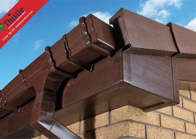 uPVC Roofline, Cladding, Soffits & Fascias Aberdeen & Aberdeenshire: Dark Walnut Fascia