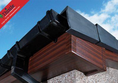 uPVC Roofline, Cladding, Soffits & Fascias Aberdeen & Aberdeenshire: Mahogany Fascia