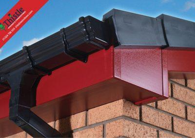 uPVC Roofline, Cladding, Soffits & Fascias Aberdeen & Aberdeenshire: Red Fascia