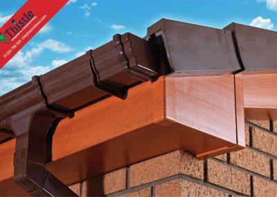 uPVC Roofline, Cladding, Soffits & Fascias Aberdeen & Aberdeenshire: Red Walnut Fascia