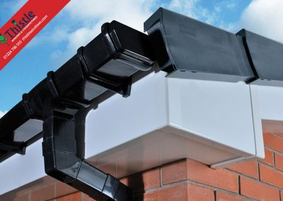 uPVC Roofline, Cladding, Soffits & Fascias Aberdeen & Aberdeenshire: White Square Fascia