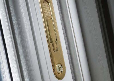 Sash Window Antique Brass Limit Stop Closed