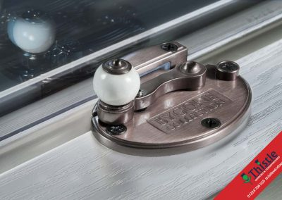 Sash Window Pewter Cam with Porcelain Ball