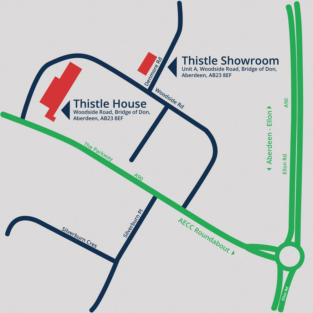 Thistle Windows & Conservatories Ltd Aberdeen Map