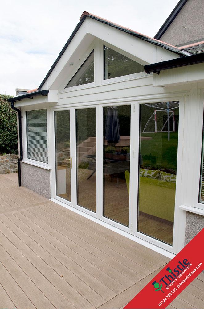 Upvc Doors Scotland : Upvc bifold doors aberdeen aberdeenshire thistle windows