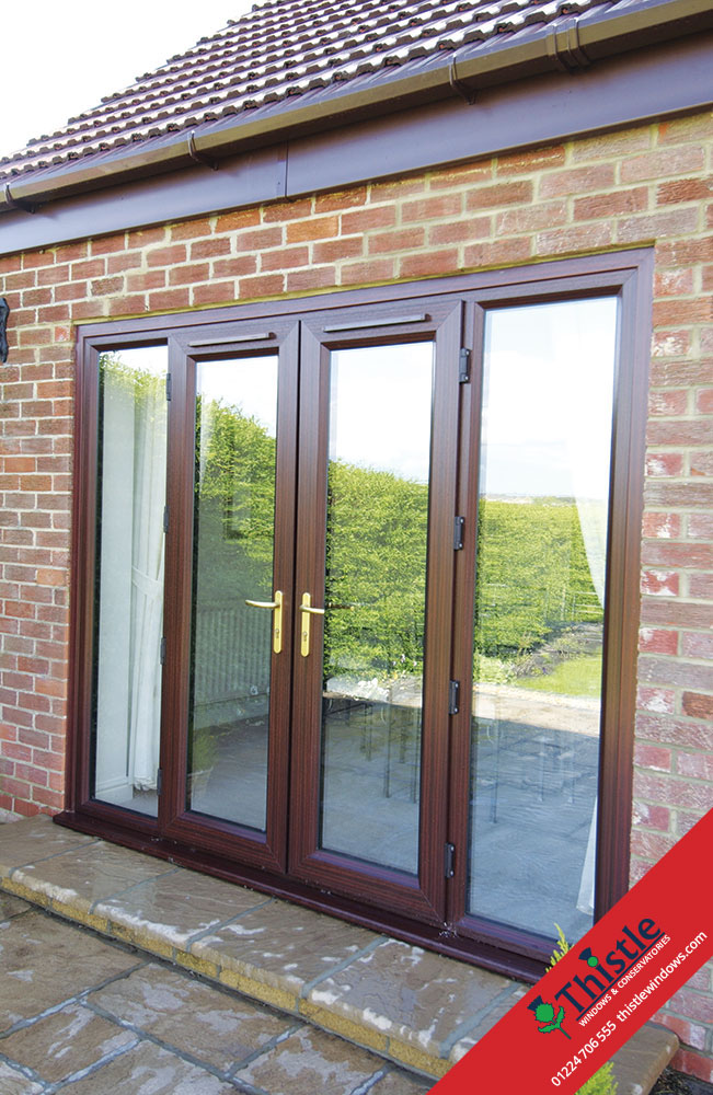 Upvc french doors aberdeen aberdeenshire thistle windows for Upvc french doors inward opening