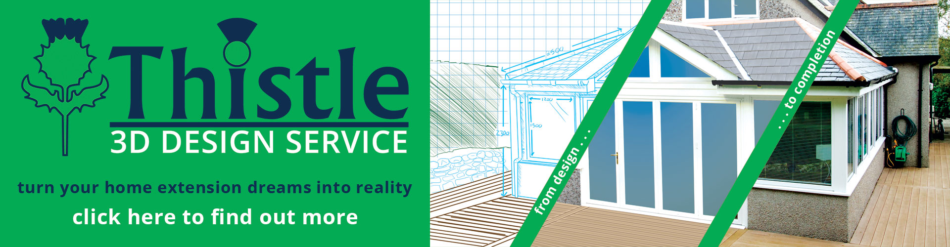 Tiled Roof Extensions & Sunrooms Aberdeen, Aberdeenshire & North East Scotland: FREE 3D Design Service