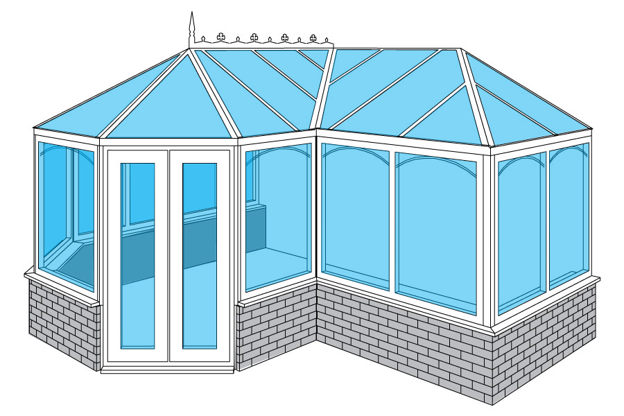 P Shape Conservatories for Aberdeen, Aberdeenshire & North East Scotland