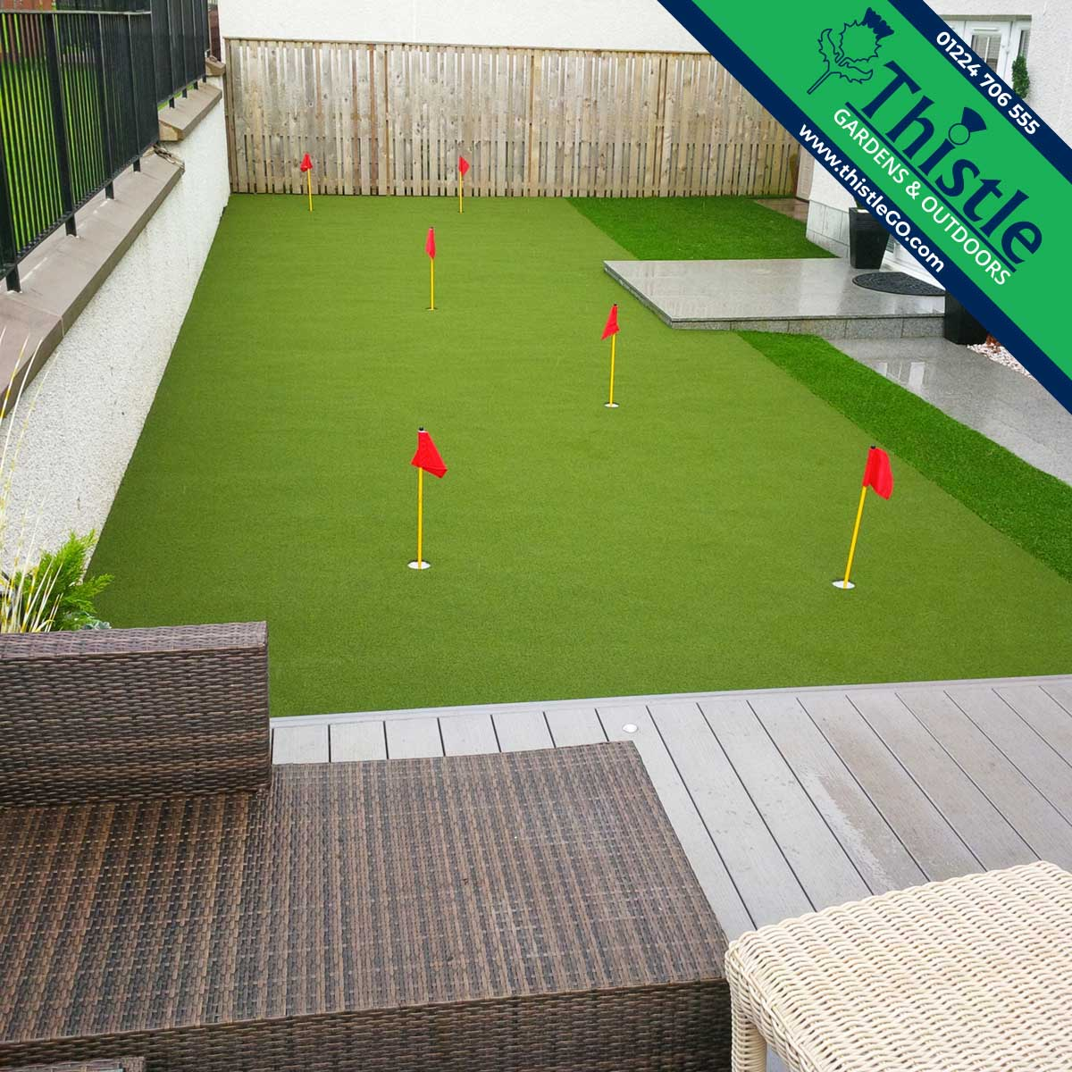 Thistle Artificial Grass Aberdeen, Aberdeenshire & North East Scotland: Putting Greens, Practice Areas & Golf Simulators