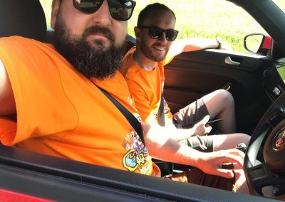 Keyline Rally 2019 Day 2: Nick & Matthew enjoying the European heatwave!