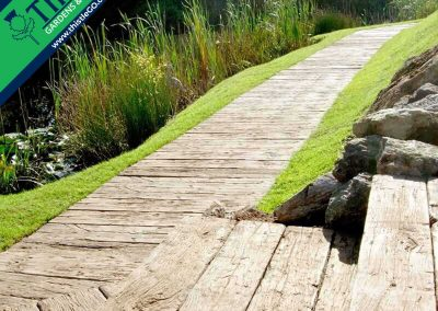 Weathered Oak Composite Decking in Driftwood