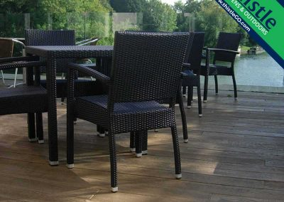 Enhanced Grain Composite Decking in Coppered Oak